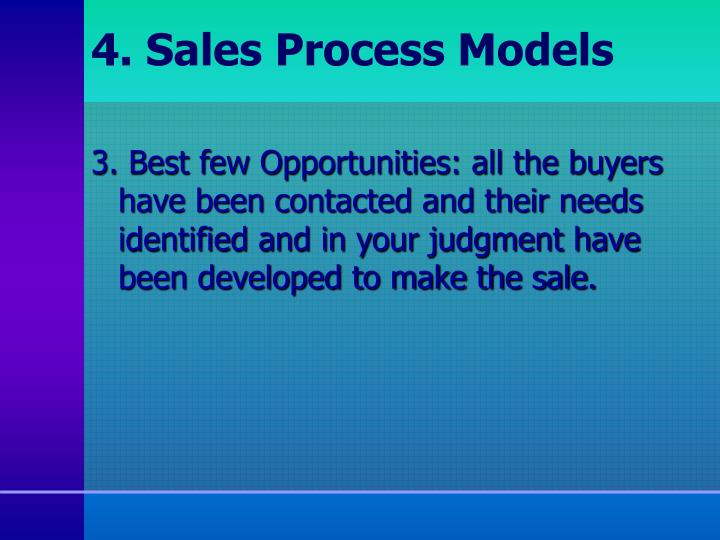 4. Sales Process Models