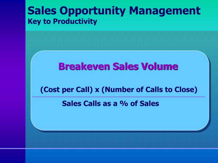 Sales Opportunity Management