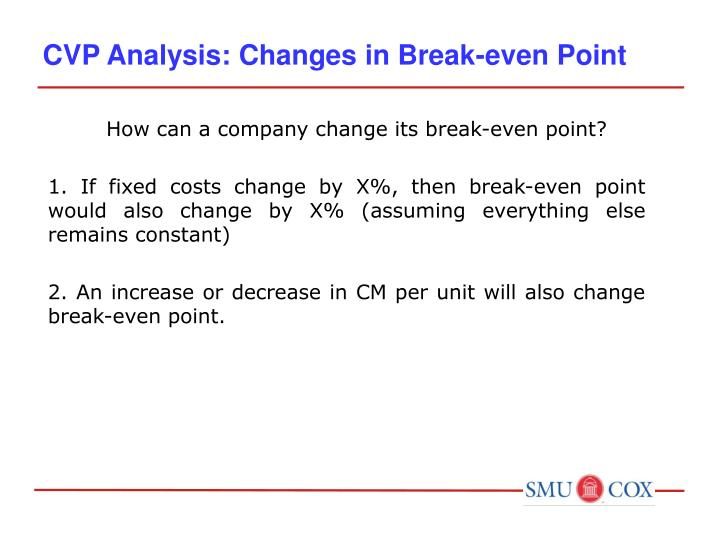 a case study of cvp analysis Business overview & cost analysis in order to compete with other milkshake shacks on the same beach of the resort, the small shake in my shack is priced at $5 00, a medium shake costs $7 00, and a large shake is priced at $10.