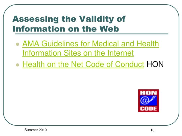 AMA Guidelines for Medical and Health Information Sites on the Internet