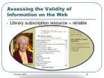 assessing the validity of information on the web3