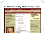 current library web site sum 2010