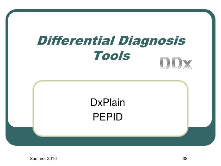 Differential Diagnosis Tools