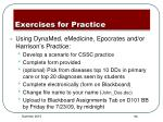 exercises for practice4