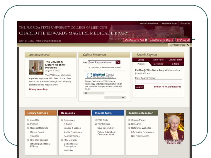 New Library Webpage
