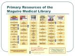 primary resources of the maguire medical library