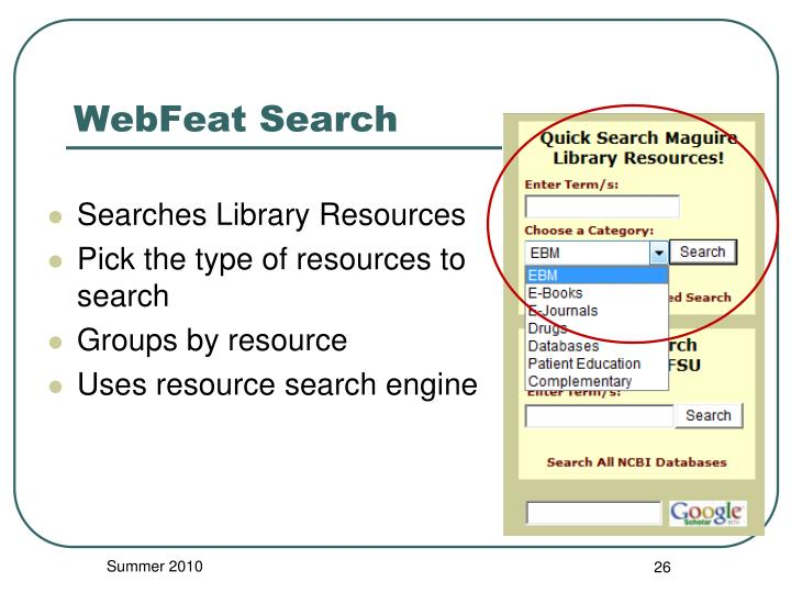 WebFeat Search