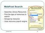 webfeat search