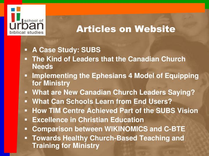 Articles on Website