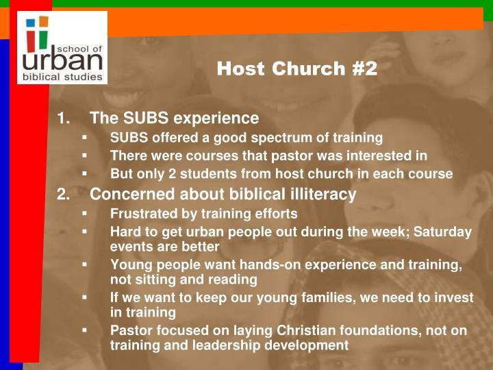 Host Church #2