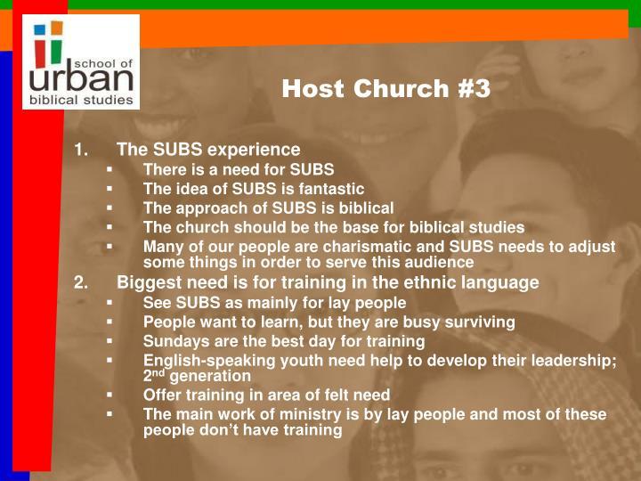 Host Church #3