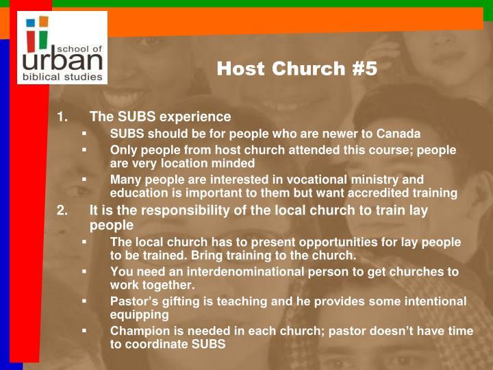 Host Church #5