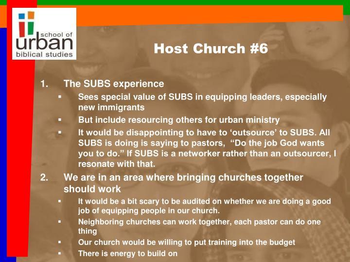 Host Church #6