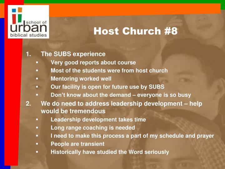 Host Church #8