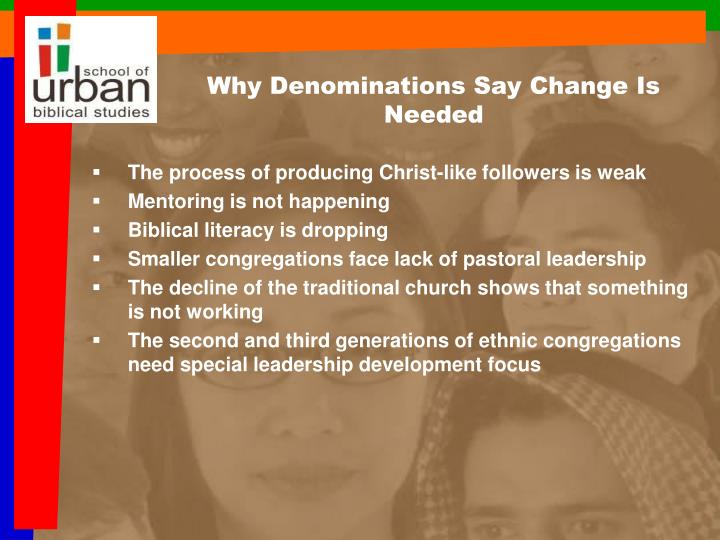Why Denominations Say Change Is Needed