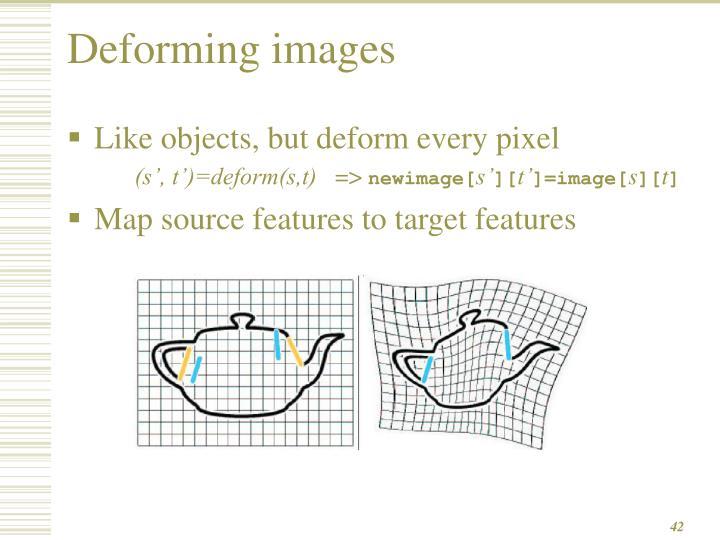 Deforming images
