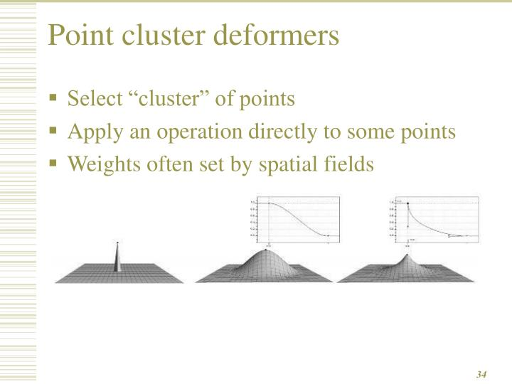 Point cluster deformers