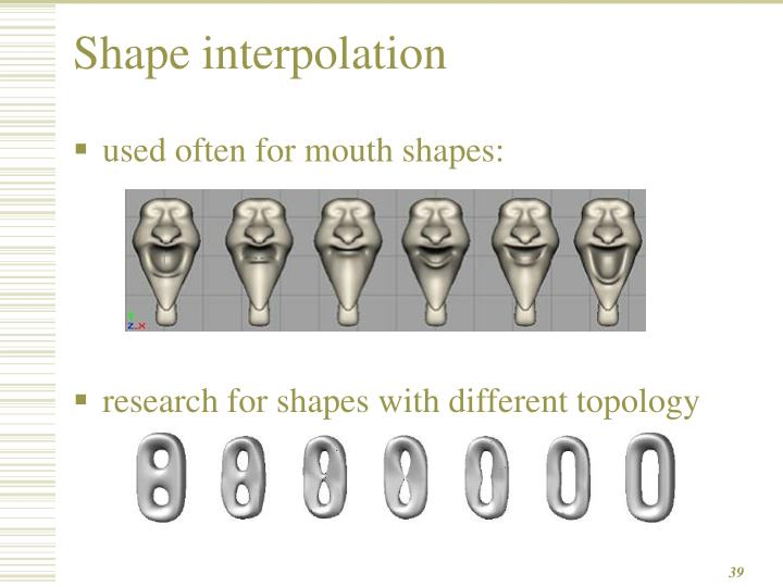 Shape interpolation