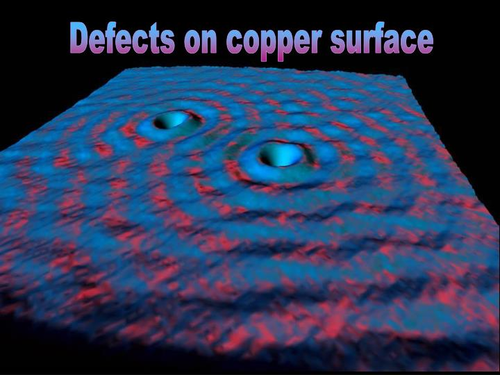 Defects on copper surface