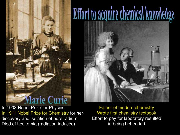 Effort to acquire chemical knowledge