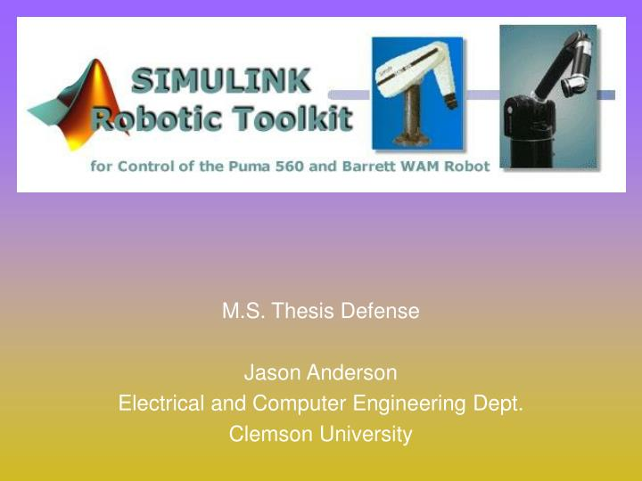 Master Thesis Defense Ppt