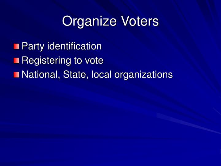 Organize Voters