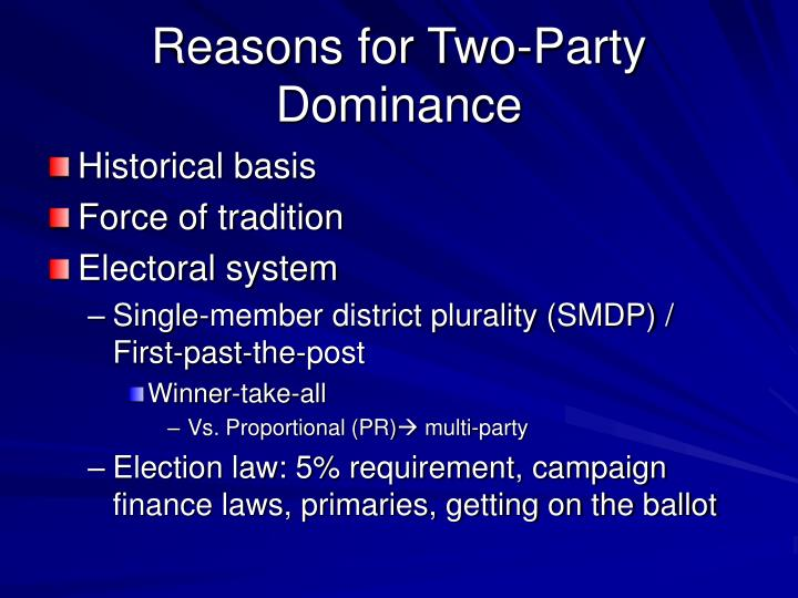 Reasons for Two-Party Dominance
