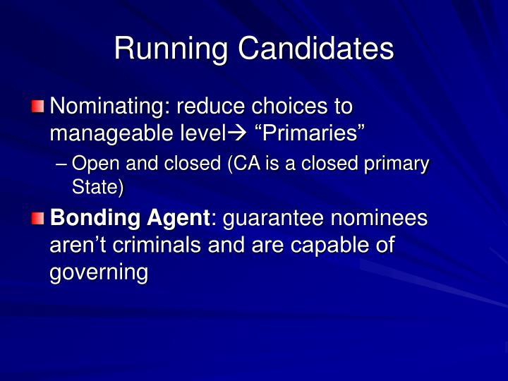 Running Candidates