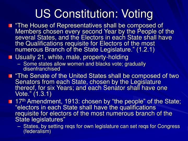 US Constitution: Voting