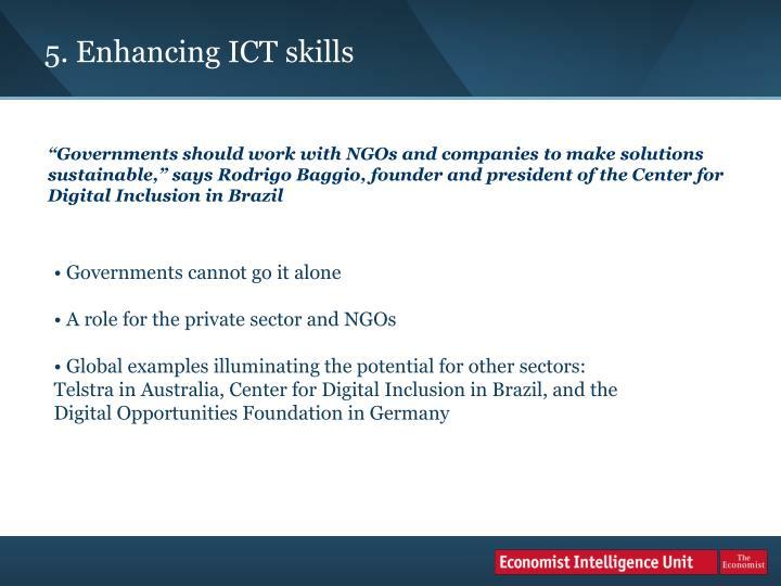 5. Enhancing ICT skills