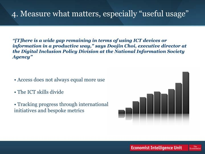 "4. Measure what matters, especially ""useful usage"""