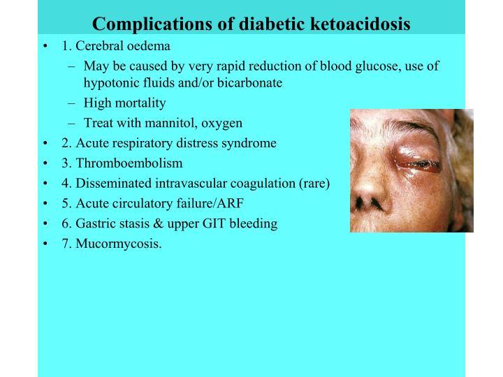 Complications of diabetic ketoacidosis
