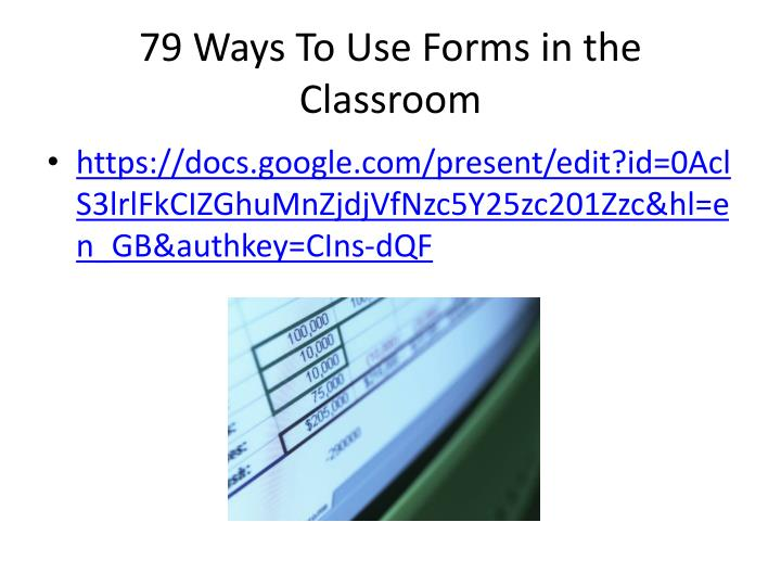 79 Ways To Use Forms in the Classroom