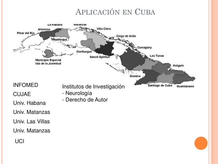 Aplicación en Cuba