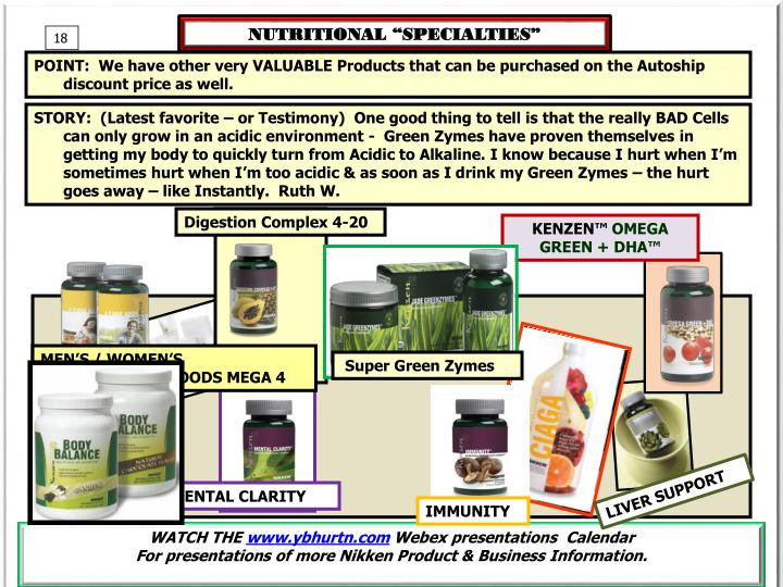 "NUTRITIONAL ""SPECIALTIES"""