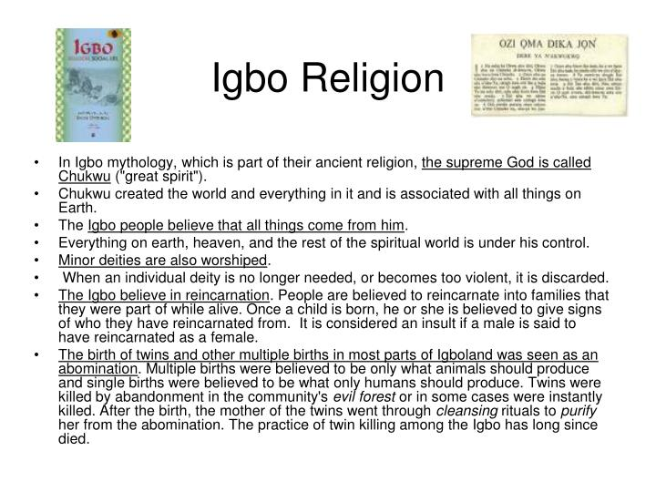 Igbo Religion