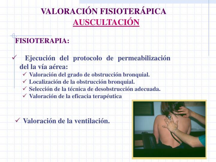 VALORACIÓN FISIOTERÁPICA