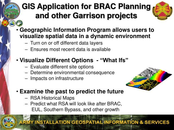 GIS Application for BRAC Planning