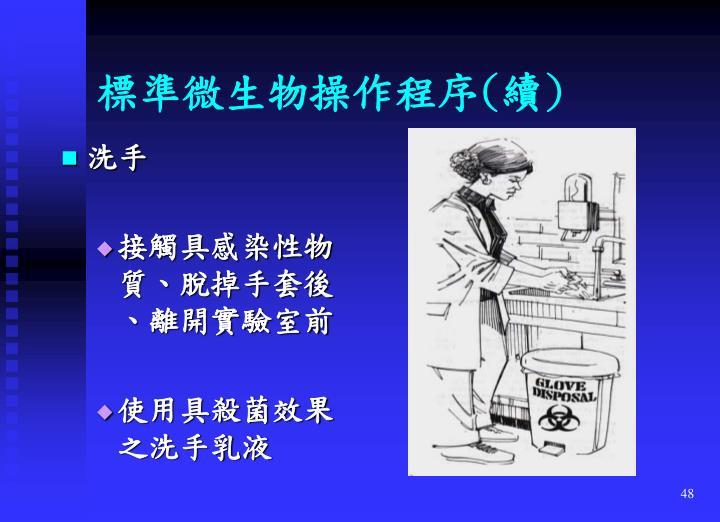 標準微生物操作程序