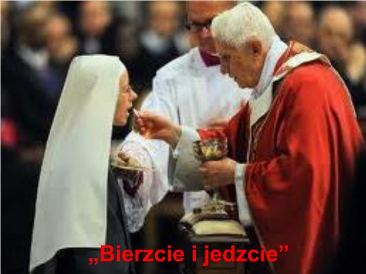 """Chleb jest po to, abym go spożywał: """"Kto spożywa moje Ciało trwa we Mnie a Ja w nim""""."""