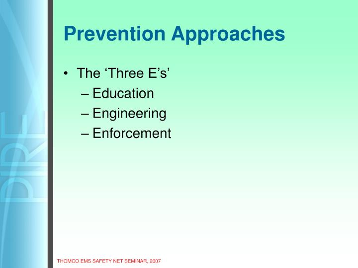 Prevention Approaches
