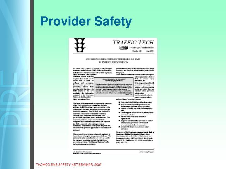 Provider Safety