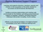 positive behavioral support program