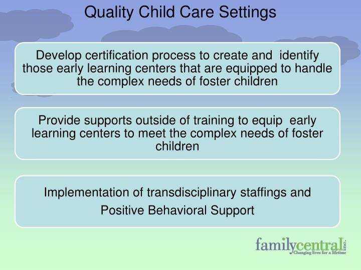 Quality Child Care Settings