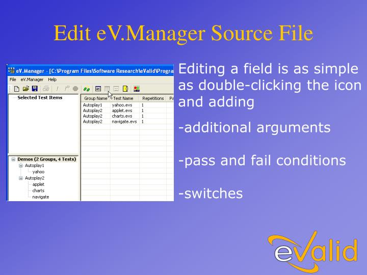 Edit eV.Manager Source File
