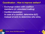 coordination how to improve welfare