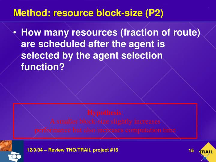 Method: resource block-size (P2)