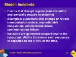 model incidents