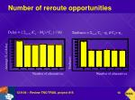 number of reroute opportunities