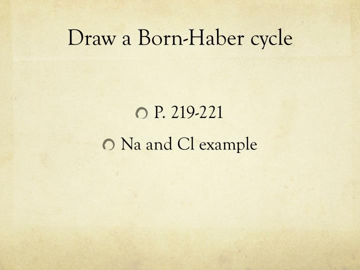 Draw a Born-Haber cycle